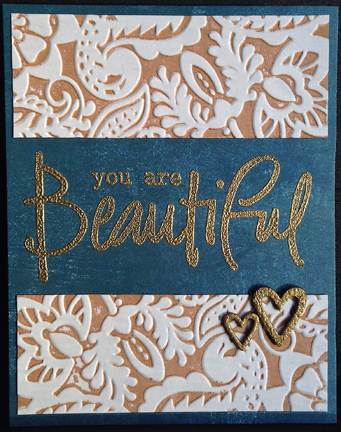 faux letterpress brown card
